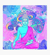 Trippy Buddha Photographic Print