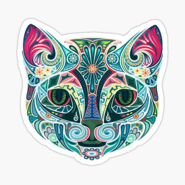 Trippy Cat. Sticker