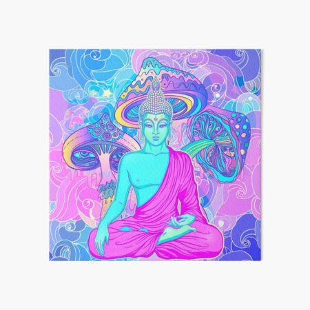 Trippy Buddha Art Board Print