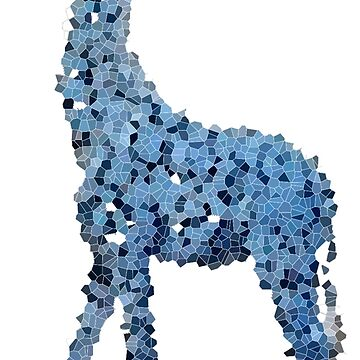 Tall blue land horse on a pixel journey  by Failingforwards