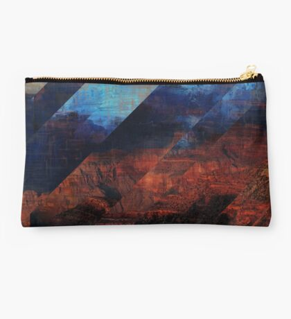 Deconstructing Time Altered Landscapes Grand Canyon Studio Pouch