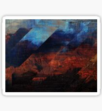 Deconstructing Time Altered Landscapes Grand Canyon Sticker