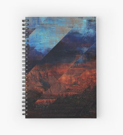 Deconstructing Time Altered Landscapes Grand Canyon Spiral Notebook