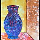 Gelli Print Vase Collage by ShellsintheBush