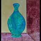 Gelli Print Vase Collage 2 by ShellsintheBush