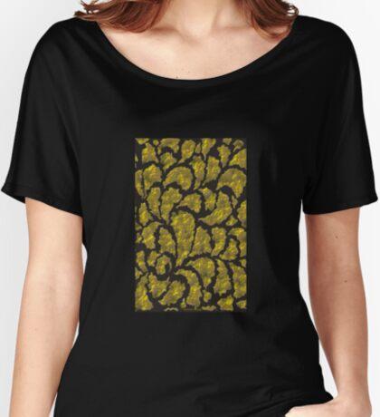 A Rich Black & Gold design  ( 1969 Views) Women's Relaxed Fit T-Shirt