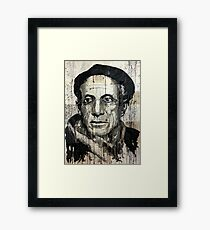 old book drawing famous people picasso bablo Framed Print