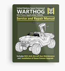 Warthog Service and Repair Manual Metal Print