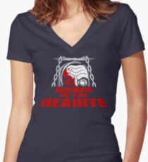 Dawn of the Deadite Women's Fitted V-Neck T-Shirt