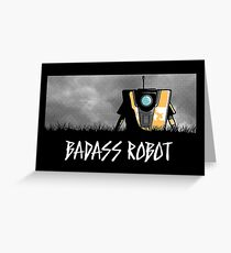 Badass Robot Greeting Card
