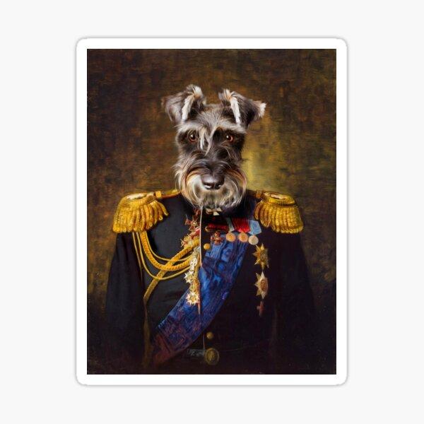 Schnauzer Dog Portrait - Elliott Sticker