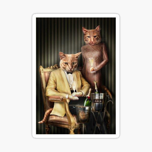 Cat Portrait - Moet and Piper Sticker