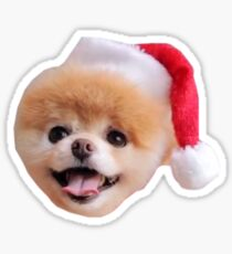 Holiday Pomeranian Sticker