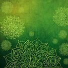 Green Mandala Grunge  by Zehda