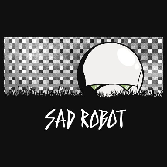 TShirtGifter presents: Sad Robot | Unisex T-Shirt
