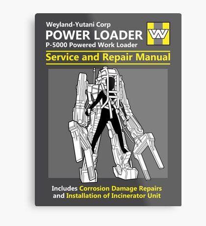 Power Loader Service and Repair Manual Metal Print