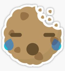 Cookie Emoji with Teary Eyes and Sad Look Sticker