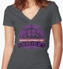 Obedient and Expendable Women's Fitted V-Neck T-Shirt