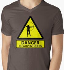 Danger to Adventurers Men's V-Neck T-Shirt