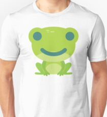 Frog Emoji Happy Smile Look Unisex T-Shirt