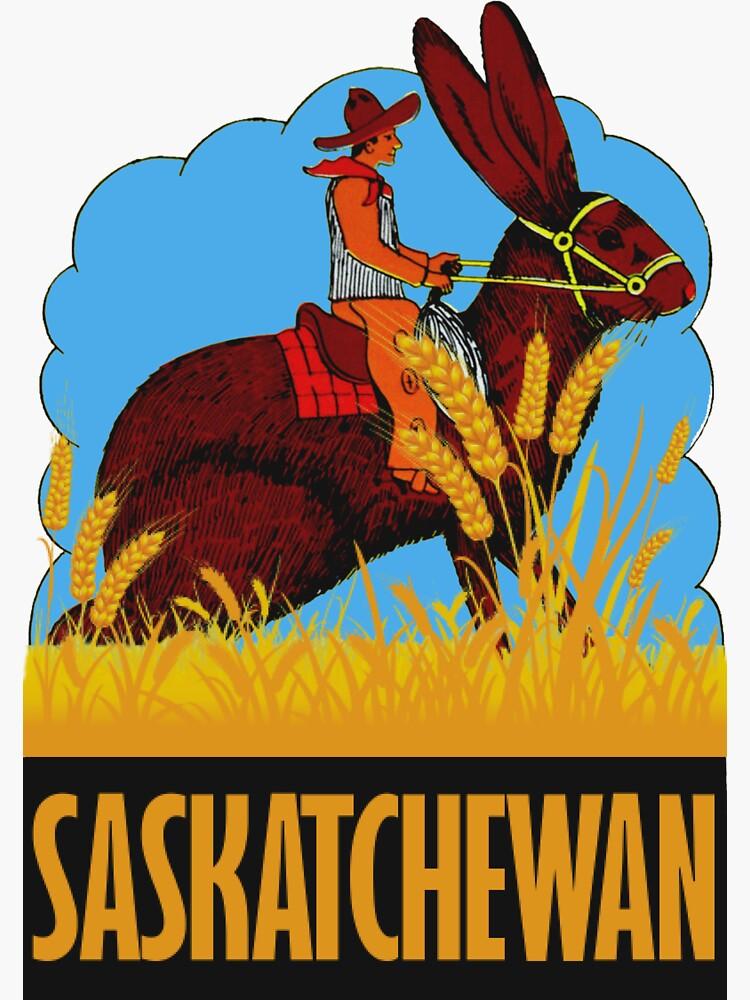 Saskatchewan Kanada Vintage Reise Aufkleber von hilda74
