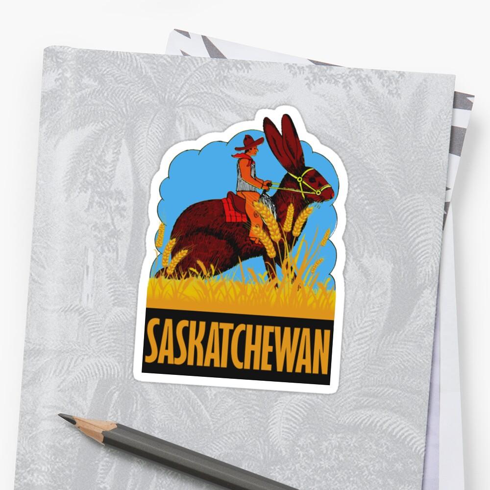 Saskatchewan Kanada Vintage Reise Aufkleber Sticker