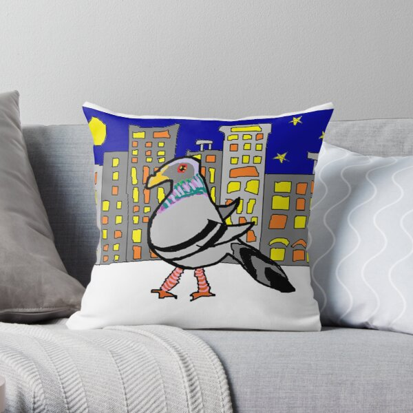 Jenny Quips:  Night Walker Throw Pillow