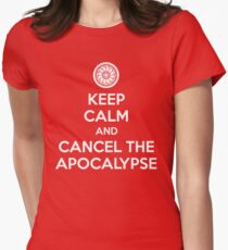 Keep Calm and Cancel the Apocalypse Women's Fitted T-Shirt
