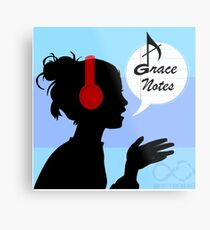 Grace Notes Logo Metal Print
