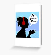 Grace Notes Logo Greeting Card