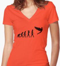 Homo Sapien Superior Worn Women's Fitted V-Neck T-Shirt