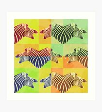 Be heard zebra shouting Art Print