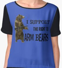 I Support the Right to Arm Bears, Grizzly Bears Chiffon Top