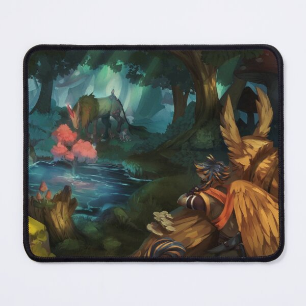 The Moss Unicorn Mouse Pad