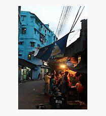 Street market in Kolkata Photographic Print