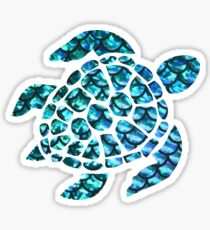 Blue Sea Turtle  Sticker