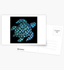Blue Sea Turtle  Postcards