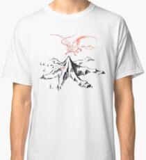 Red Dragon Above A Single Solitary Peak - Fan Art Classic T-Shirt