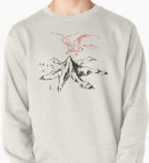 Red Dragon Above A Single Solitary Peak - Fan Art Pullover