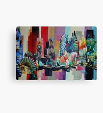 London City Skyline 0659 Canvas Print