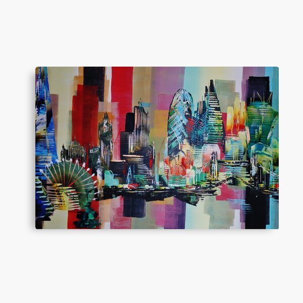 London City Skyline 0659 Canvas Print