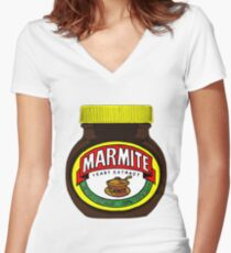 Marmite Women's Fitted V-Neck T-Shirt