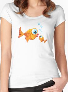 Critterz - Fish :: Olive & Pickles Women's Fitted Scoop T-Shirt