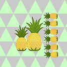 Pineapples  (Because my daughter loves them at the moment) by Michelle *