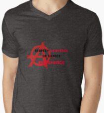 respect existence or expect resistance  Men's V-Neck T-Shirt
