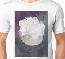 Abstract white volcano Unisex T-Shirt