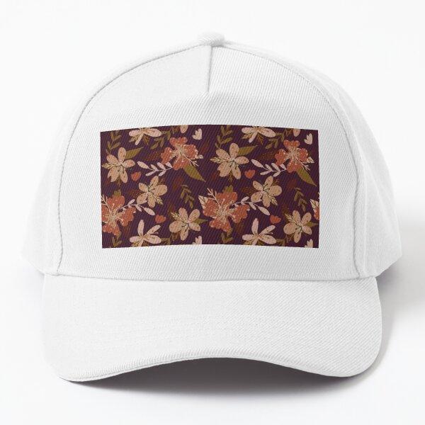 Earthy vintage flowers purple Baseball Cap