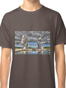 the Kelpies , Helix Park , Grangemouth  654 Classic T-Shirt