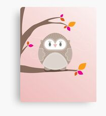 Sweet owl in a tree 5 Canvas Print