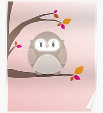Sweet owl in a tree 5 Poster